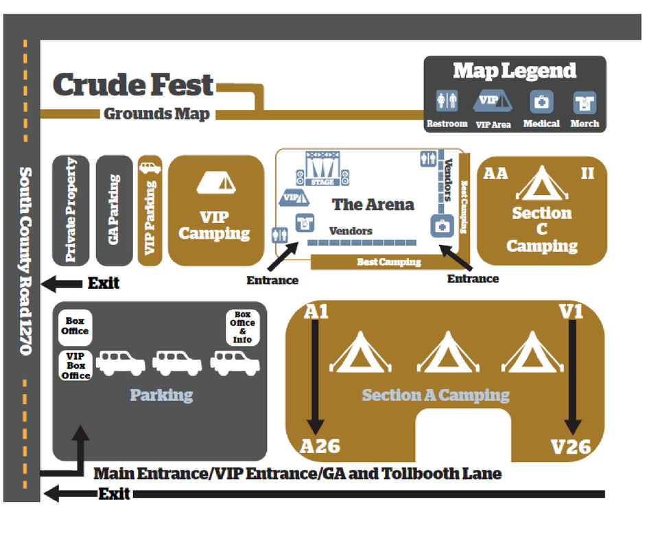 Crude Fest Map
