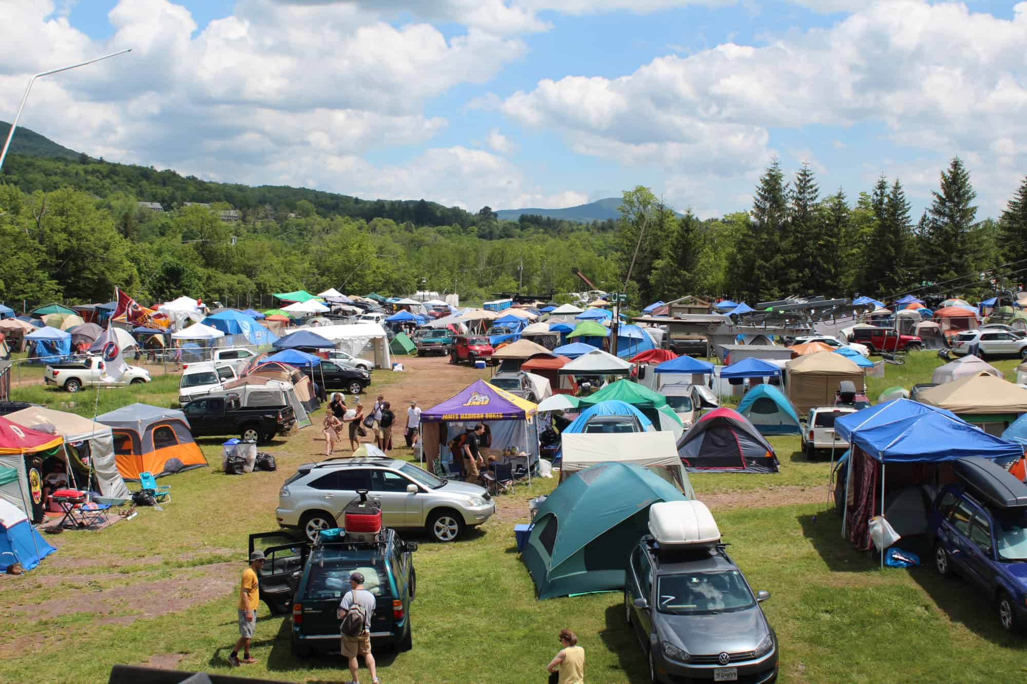 Camping At Mountain Jam