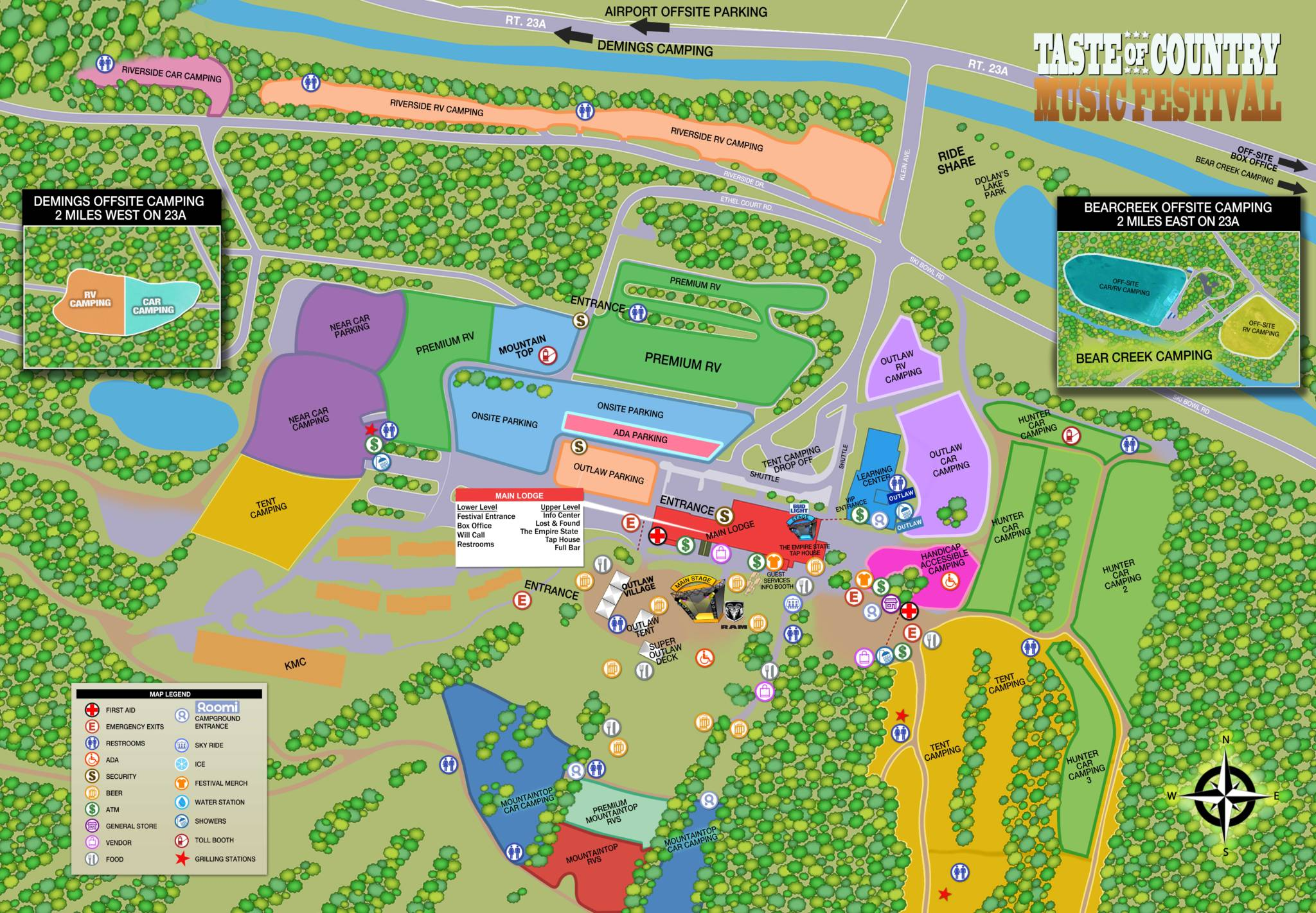 TOC Campground Map