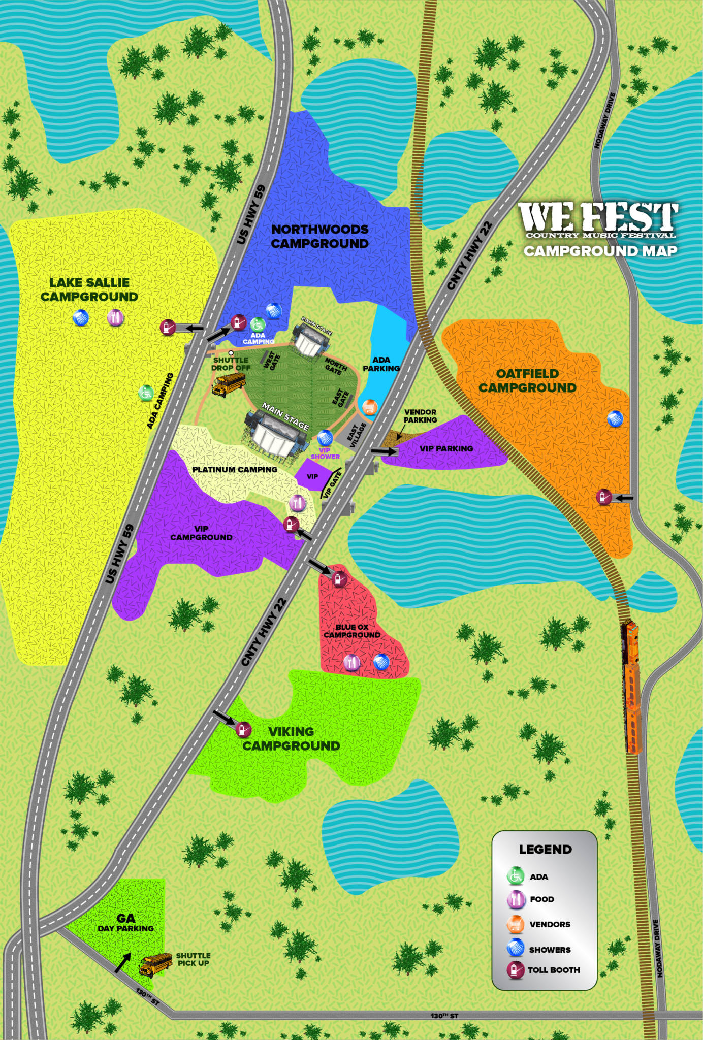 WE Fest Campground Map